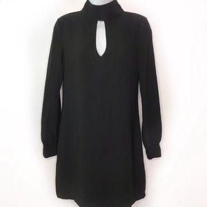 Olivaceous Black Open Back Long Sleeve Dress